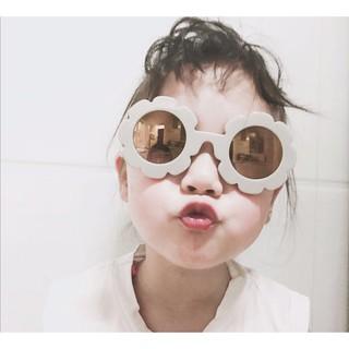 5cc0c64ff230f Kids Sunglasses Flower Round Cute children glasses boy girl