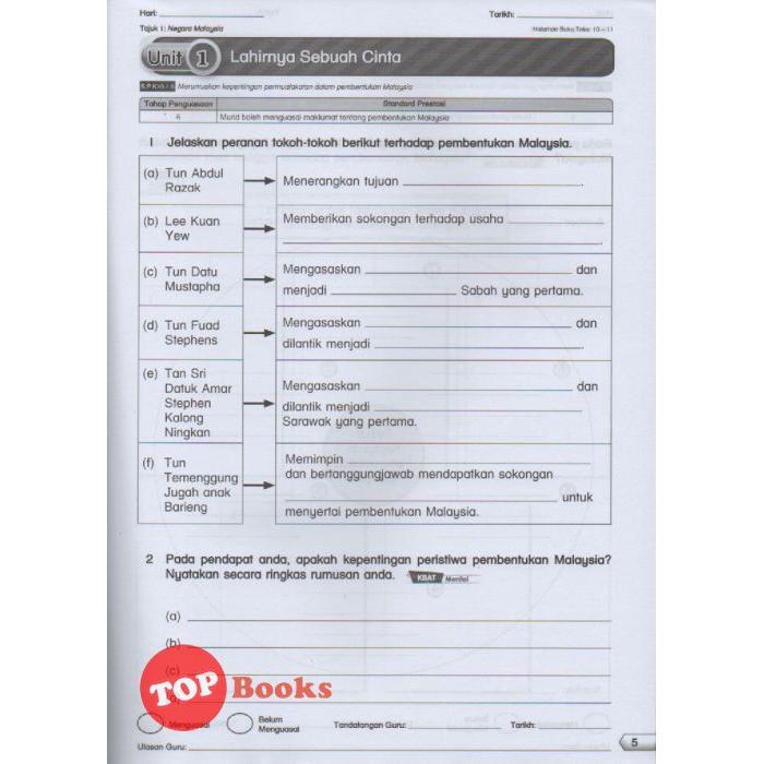 Topbooks Ilmu Bakti Skil Hebat Kssr Sejarah Tahun 6 2020 Shopee Malaysia