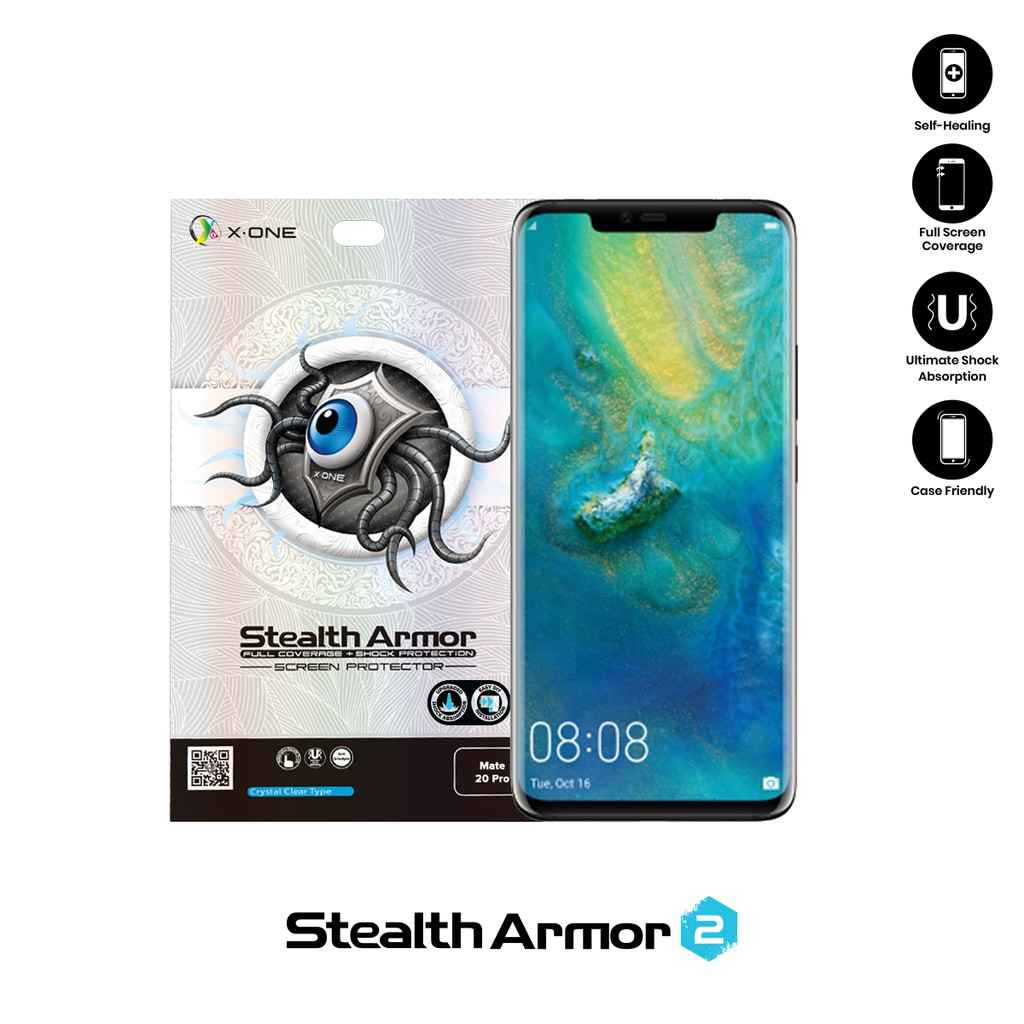 Huawei Mate 20 Pro X-One Stealth Armor 2 ( Upgraded Version ) Screen Protector