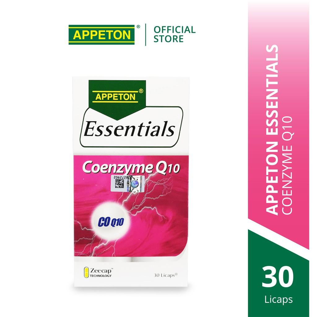 APPETON Essentials Coenzyme Q10 CoQ10 for Heart Health & Antioxidant (30's)