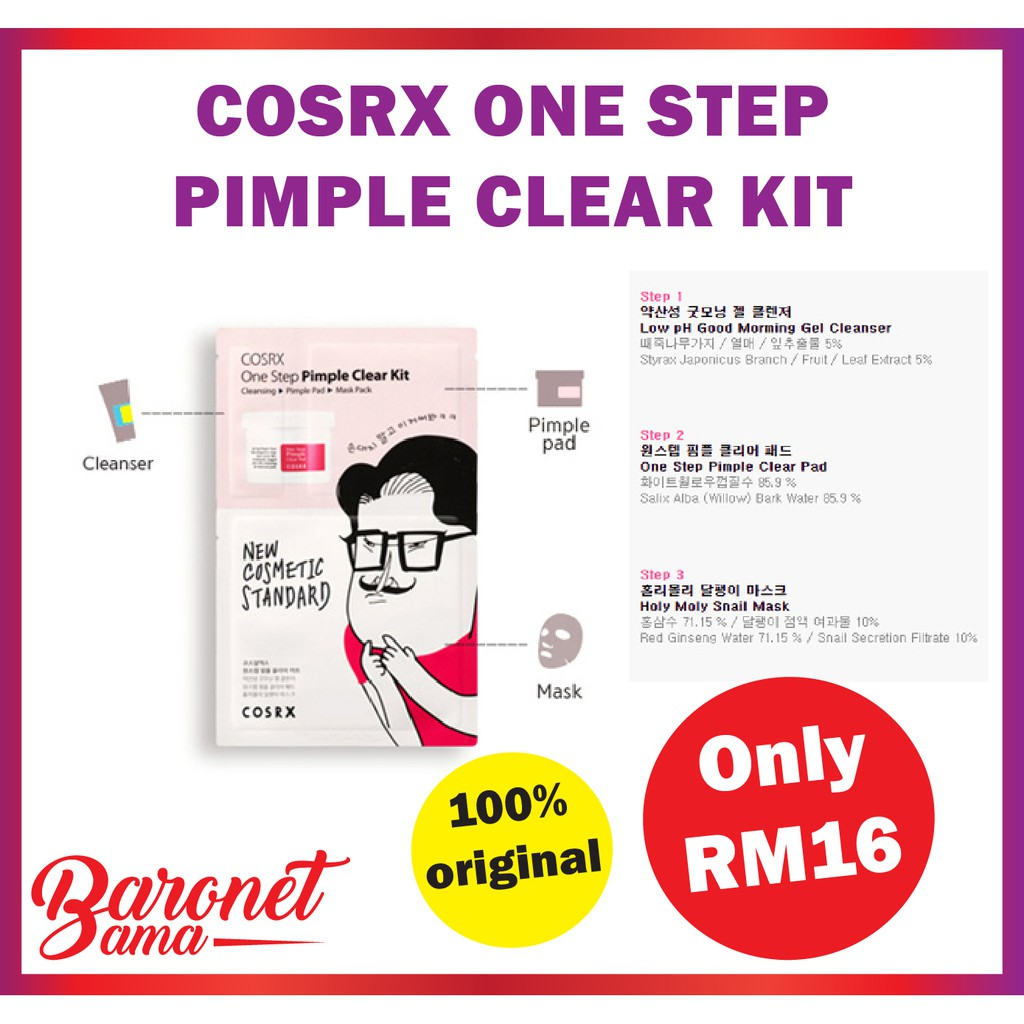 Cosrx One Step Pimple Clear Kit Exp 09 Oct 2019 Shopee Malaysia Pad 70 Pcs