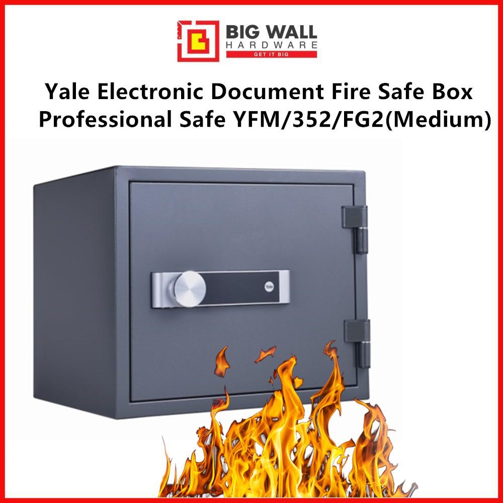 Yale YFM/352/FG2 Electronic Document Fire Safe Box Professional (Medium)