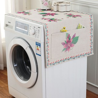 European Style Ethnic Wind Pastoral Cotton And Linen Cloth Automatic Drum Washing Machine Cover Clot Shopee Malaysia