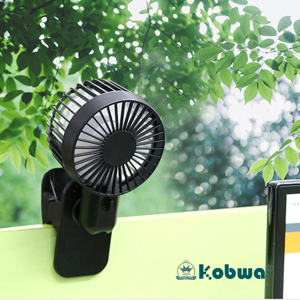 Portable Mini Clip Fan USB power 360 Degree Adjustable For Baby Car