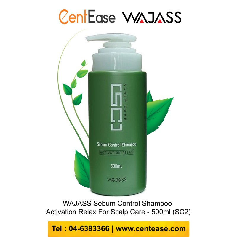 WAJASS Sebum Control Shampoo Activation Relax For Scalp Care - 500ml (SC2)