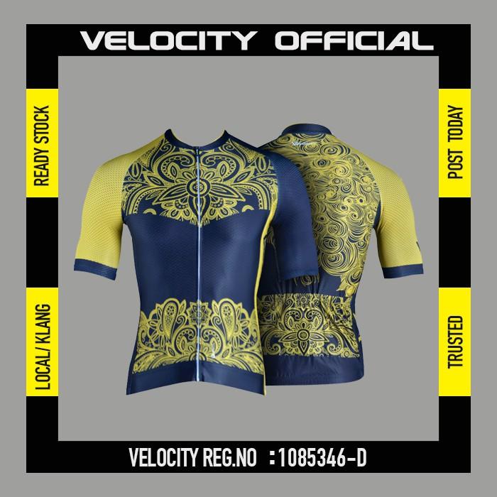 [READY STOCK]Velocity Men Short Cycling Jersey-Golden Flower