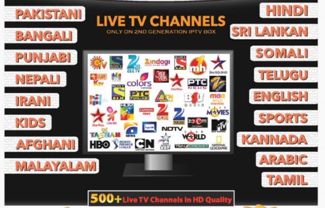 INDIAN IPTV BOX FULL 4K HD Free life time watching also