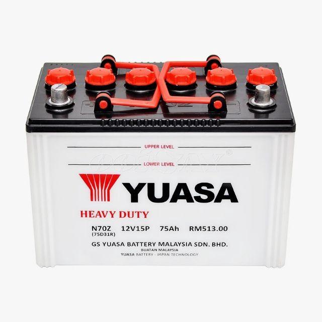 YUASA N70Z 15 PLATE BATERY WET 75D31R