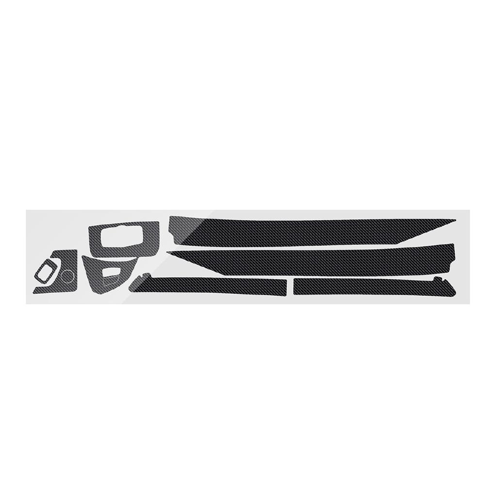 For BMW X5 2007-2013 5D Glossy Carbon Fiber Interior Sticker Vinyl Decal Trim