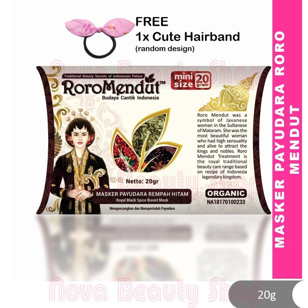 Roro Mendut Masker Payudara Rempah Hitam Original Indonesia 20g Breast Enlargement Tegang Terik Besar