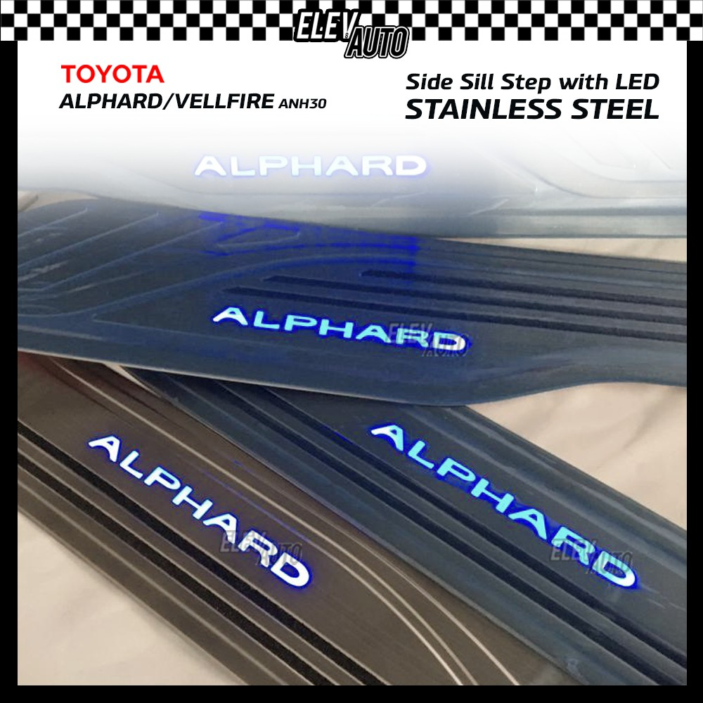 LED Side Sill Step Door Step Protector Toyota Alphard Vellfire ANH30 2015-2021