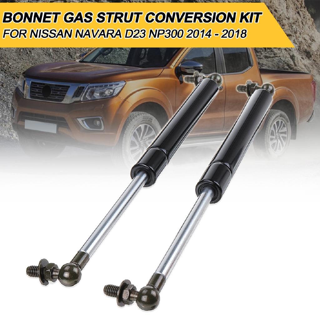 🌿Front Hood Bonnet Gas Strut Damper Kit For Nissan Navara NP300 D23 2014  -2018