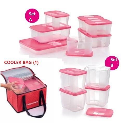 Tupperware Freezermate Set [Pink]