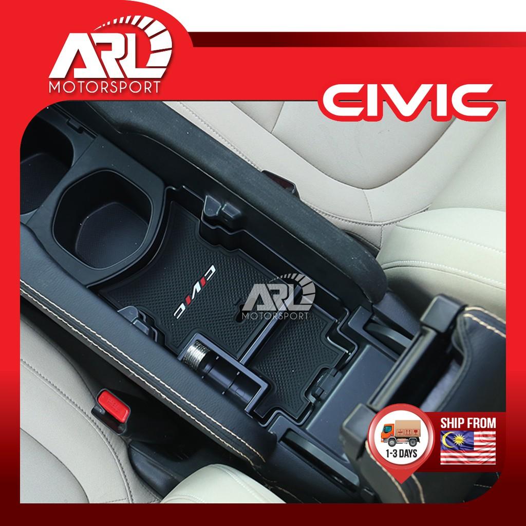 Honda Civic X (2016-2020) FC Center Console Coin Box With Logo Civic Car Auto Acccessories ARL Motorsport