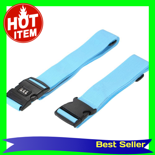 Long Cross Luggage Strap Separatable Suitcase Belts Travel Tags Accessories with 3 Dial Combo Lock Bag Bungee Strap Ros
