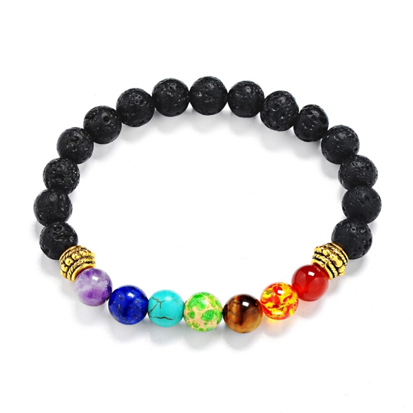 Lava Stone Multicolor Beaded Bracelet