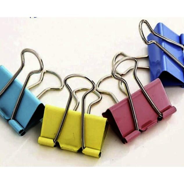 Colorful Binder Clip Metal Binding Dovetail Clip Stationery Utensil Binder Clip 32MM 5 IN 1 SET