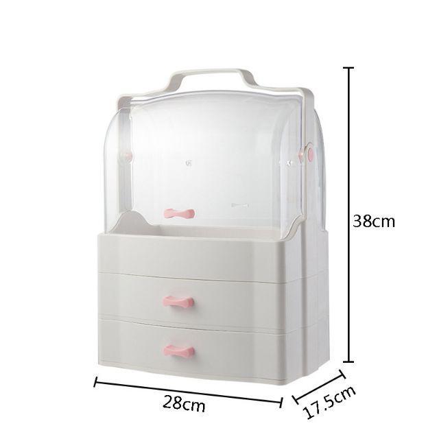 Transparent Cosmetic Creative Makeup Storage Box Organizer Drawer Storage [ READY STOCK ]