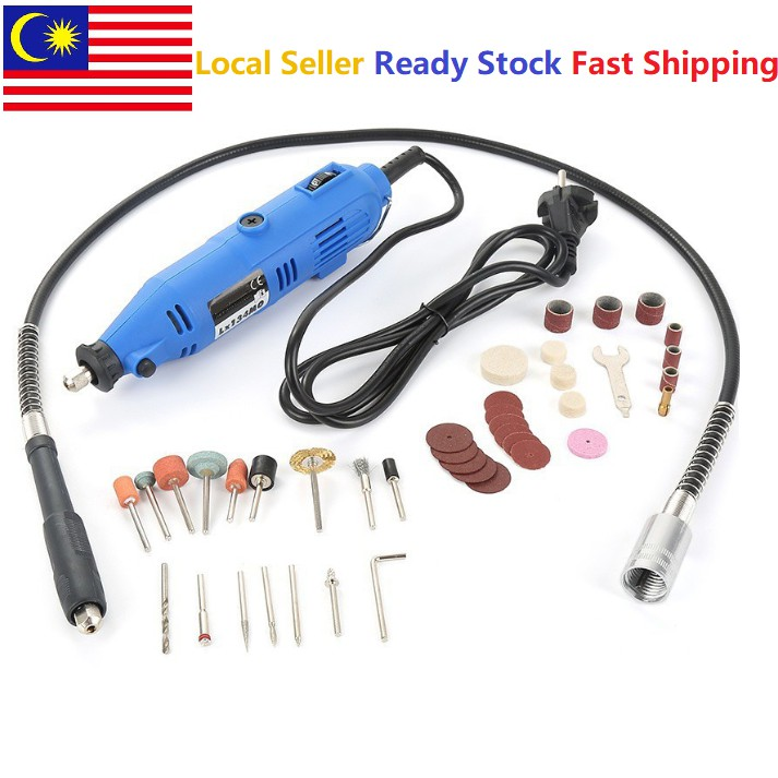 3mm Mini Electric Drill Grinder Electric Die Grinder Flexible Flex Shaft  Polishing Porting Tool Mesin Korek
