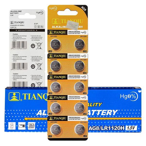 TIANQIU AG8/LR1120H/391A 1.5V ALKALINE BATTERY 10pcs