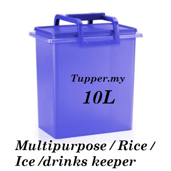 Tupperware Buddy Multi Rice Keeper With Handle Carry All 10L 10.0L 1pc