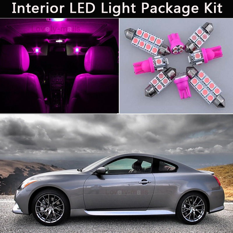 12pcs White LED Light Interior Number plate Package Kit For Toyota Camry 07-2011