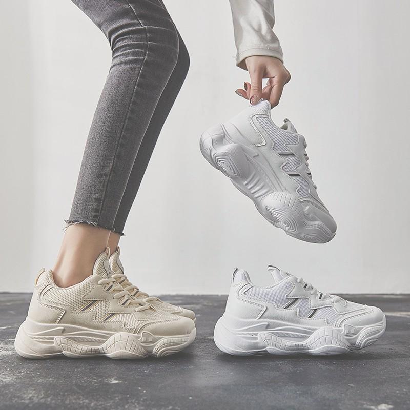【สต็อกพร้อม】EU35-44 รองเท้ากีฬาย้อนยุคอินเทรนด์ รองเท้า รองเท้าแฟชั่น รองเท้าผ้าใบ รองเท้าผู้หญิแฟชั่น รองเท้า รอง