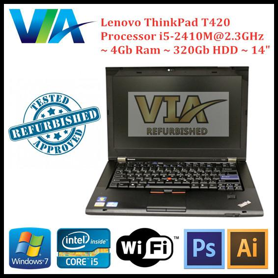 Lenovo Thinkpad T410 / Core i5-520M / 4GB RAM / 320 GB / WINDOW 7