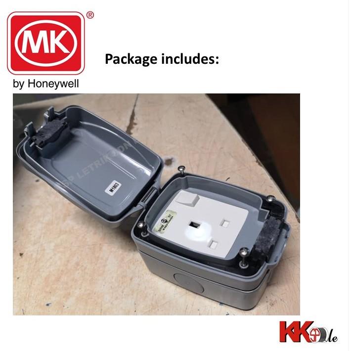 Mk 86486 Gry 1 Gang 13a Waterproof Weatherproof Ip66