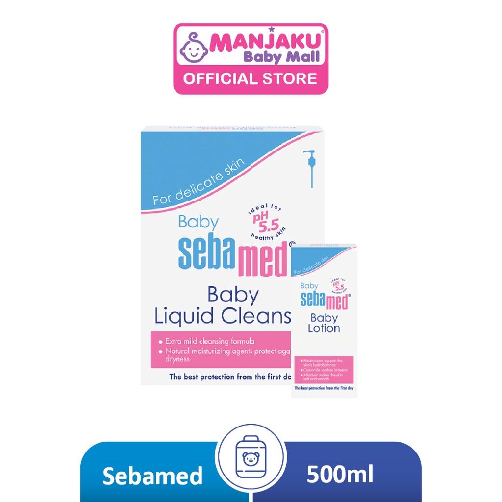 SebaMed Baby Liquid Cleanser 500ml GWP Baby Lotion 100ml