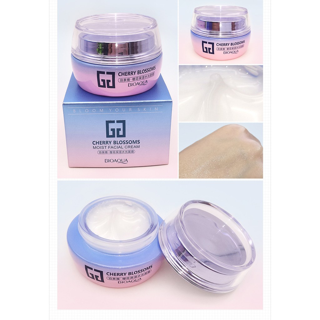 f129647bff BIOAQUA Cherry Blossoms Whitening Face Cream Professional Skin Care ...