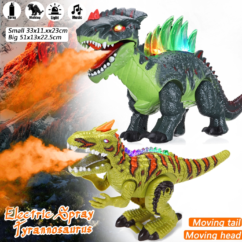 Electric Walking Dragon Toy Fire Breathing Water Spray Dinosaur Gift AD