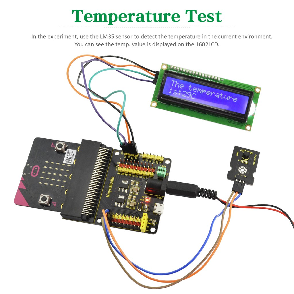 Keyestudio Temperature Sound Touch Sensor 37 in 1 Starter Kit For BBC Micro:Bit