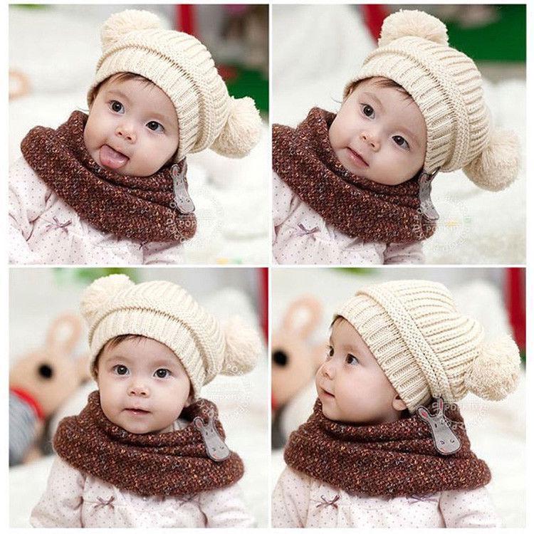 168776dec Unisex Baby Toddler Kids Boys Girls Knitted Crochet Beanie Winter Warm Hat  Cap | Shopee Malaysia