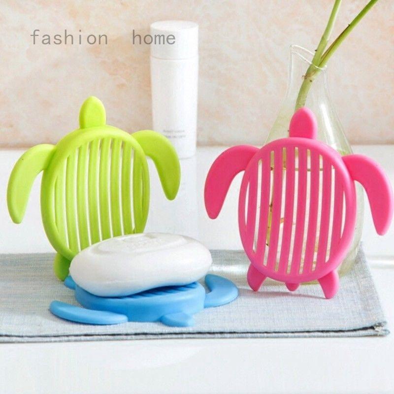 2 Pc Plastic Turtle Tortoise Soap Dish Holder Bathroom Kitchen Decor Random Uk