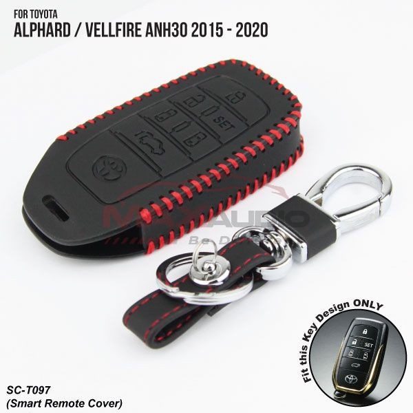 [FREE Gift] TOYOTA VELLFIRE/ ALPHARD ANH30 2015 - 2020 Quality Leather / Silicone Smart Key Remote Cover
