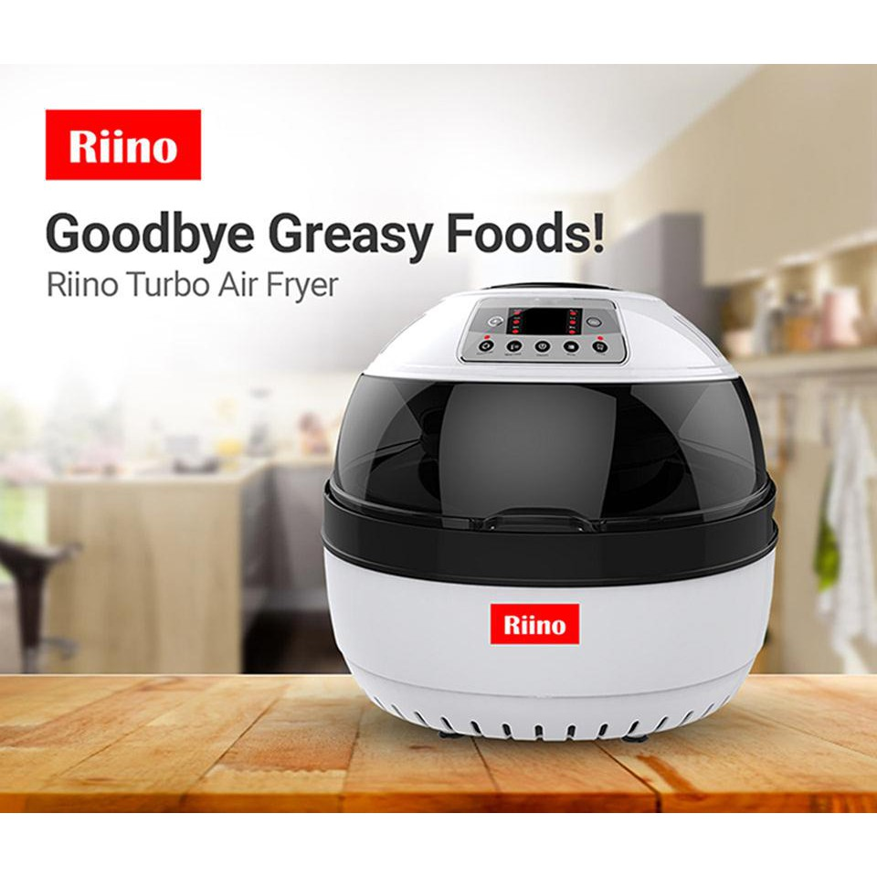 RIINO Double Intelligent Turbo Air Fryer 10L [FREE Accessories] - HA-RO-AF506E