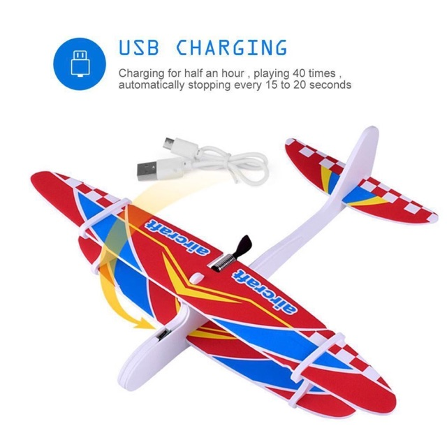 Diy Throw Airplane Craft With Usb Charger