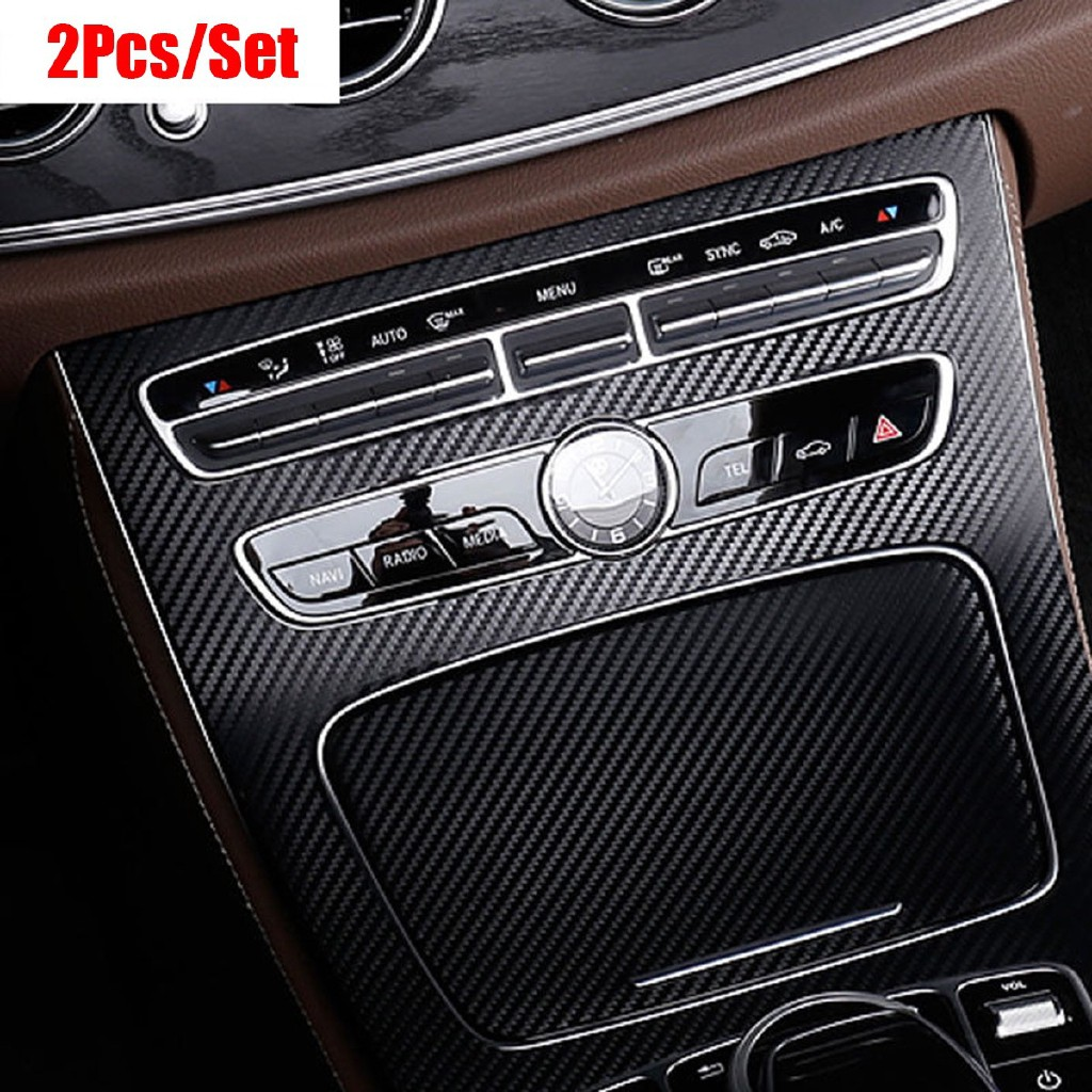 Da Carbon Fiber Console Gear Panel Cover For Mercedes Benz E-Class W213 2016