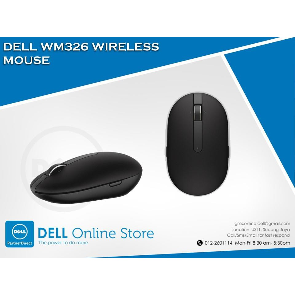 207d4b8aebd Genuine DELL WM326 5MTFN WIRELESS MOUSE 1600 dpi Dell Part 570-AAMI |  Shopee Malaysia