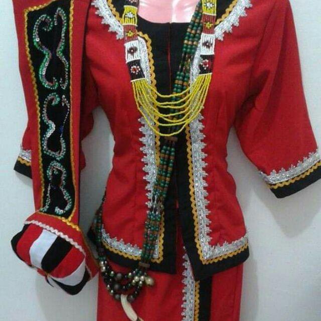 Set Pakaian Tradisional Bidayuh