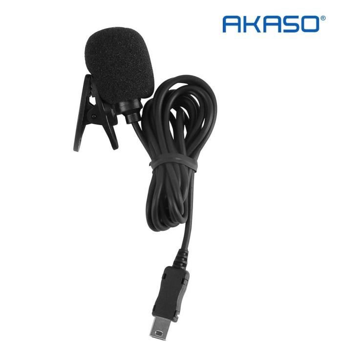 Akaso V50 Pro External Micro for V50 Pro Action Camera Only Black Microphone