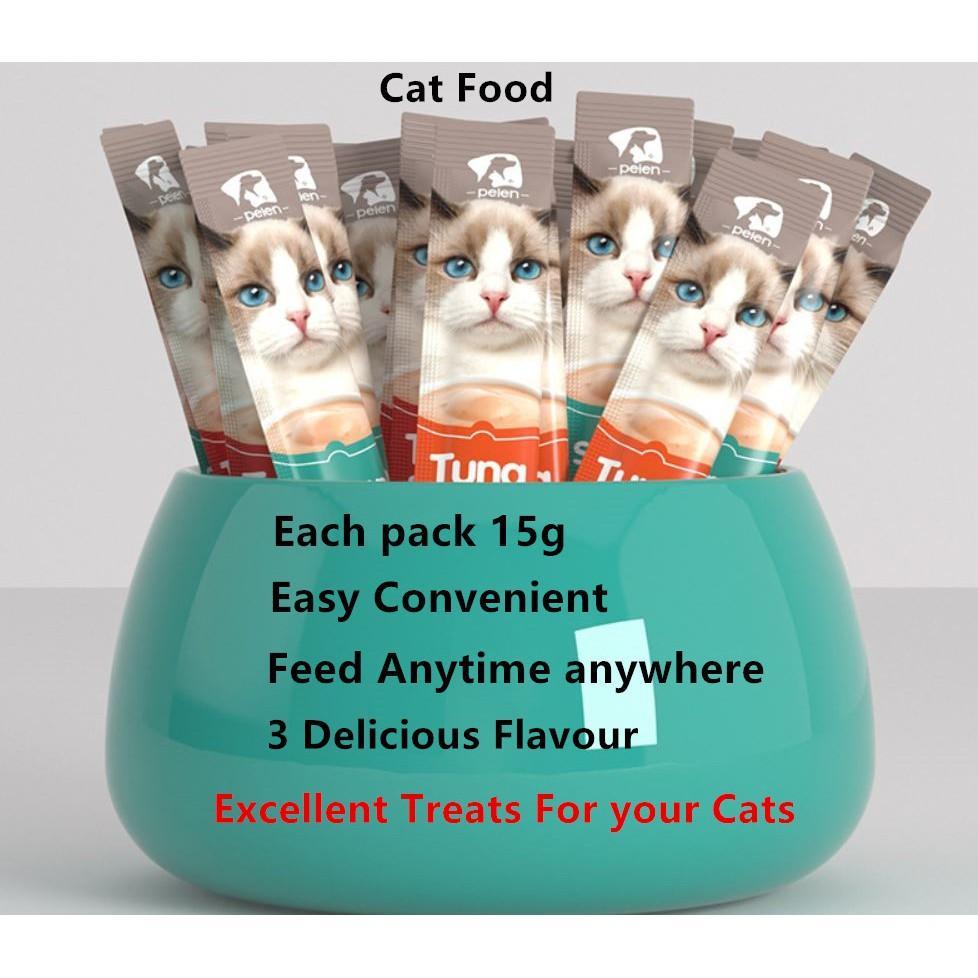 Cat Treats - Cat Snack -15g Per Stick - Cat Stick Wet Food - Excellent For Cats - Healthy - Nutritious