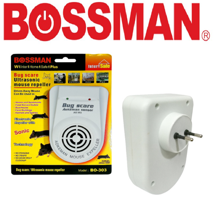 BOSSMAN ELECTRIC ULTRASONIC PESTS CATCHER MOUSE REPELLENT DEVICE CONTROL PERANGKAP ALAT KAWALAN SERANGGA  KILLER