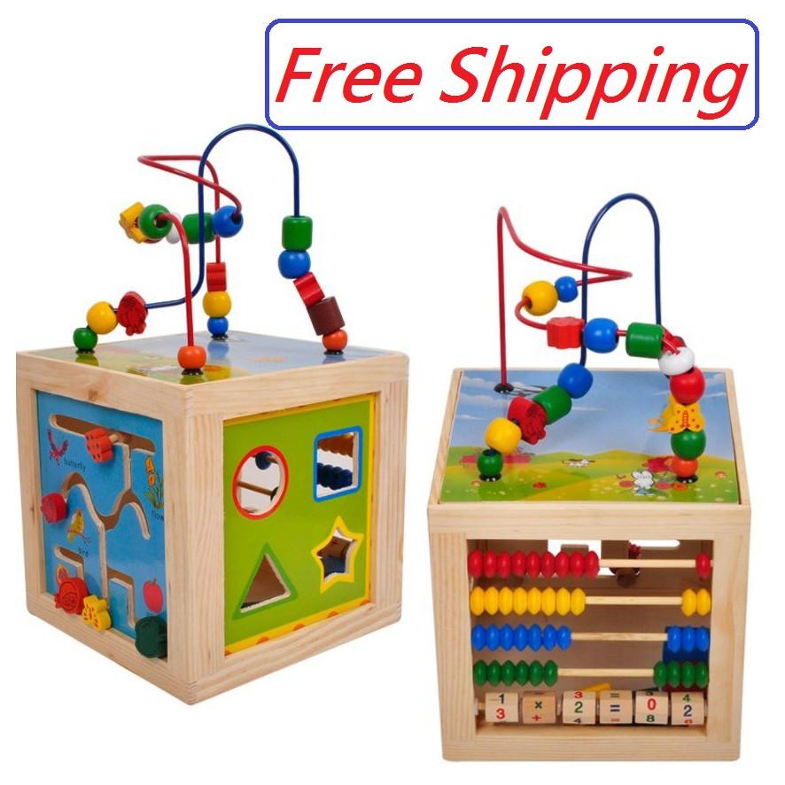 Super Fun Activity Box Beaded Maze Multi-Function Educational Children/'s Toys