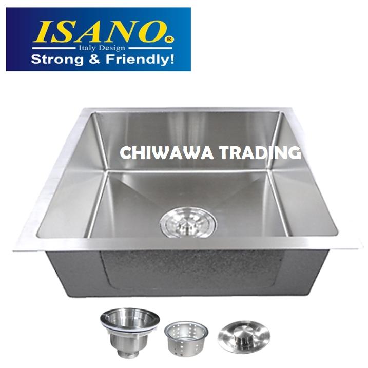 ISANO B4545 Stainless Steel Kitchen Sink Bowl Basin Drainer