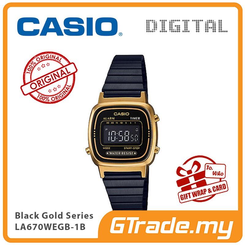 51496ee0a CASIO Women Ladies LA670WEGB-1B Digital Watch | Shopee Malaysia