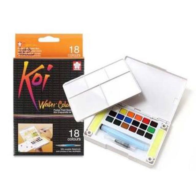 สีน้ำ Koi water colors 18สี พร้อมพ