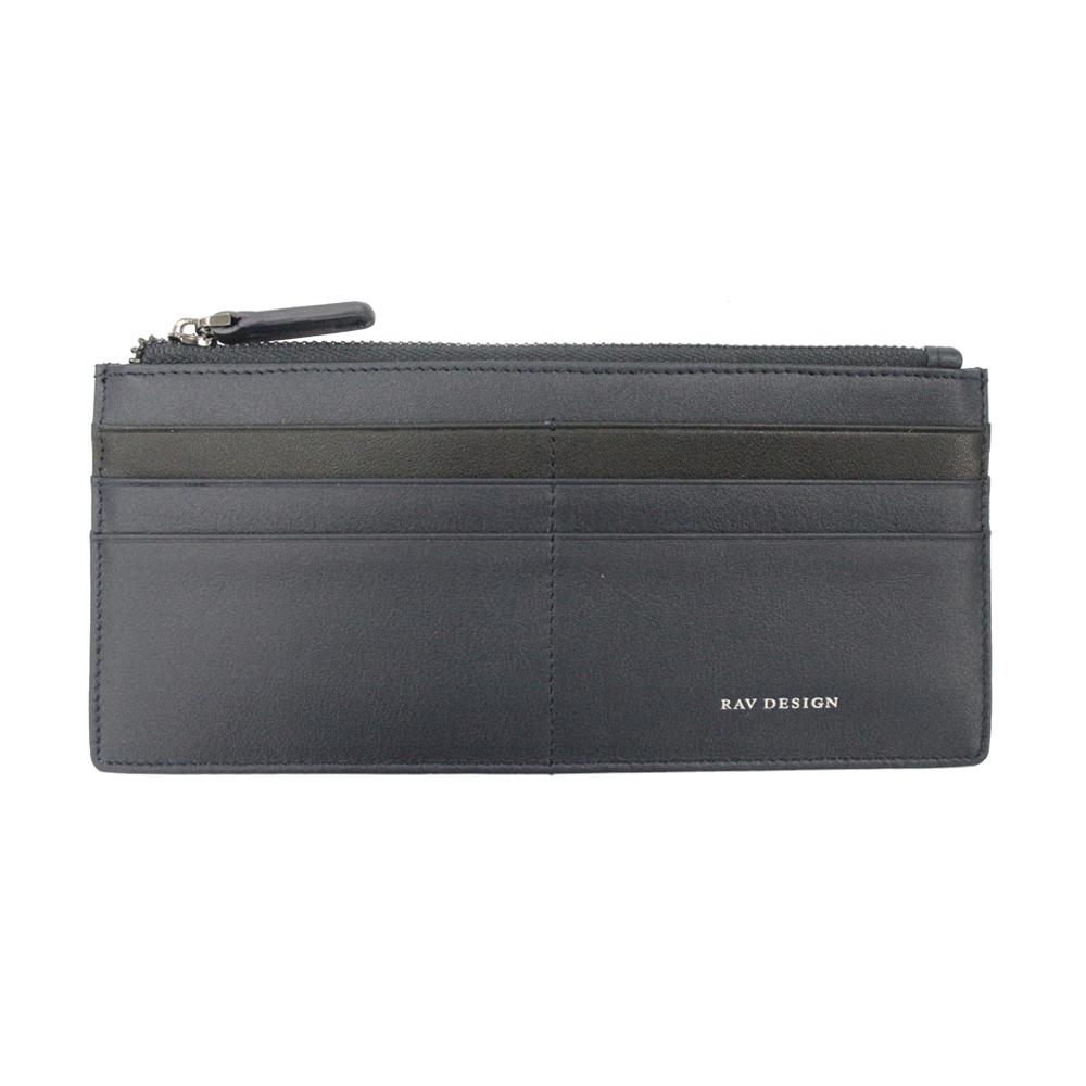 RAV DESIGN Men's Genuine Leather Anti-RFID Card Wallet |RVW668G3 (D)