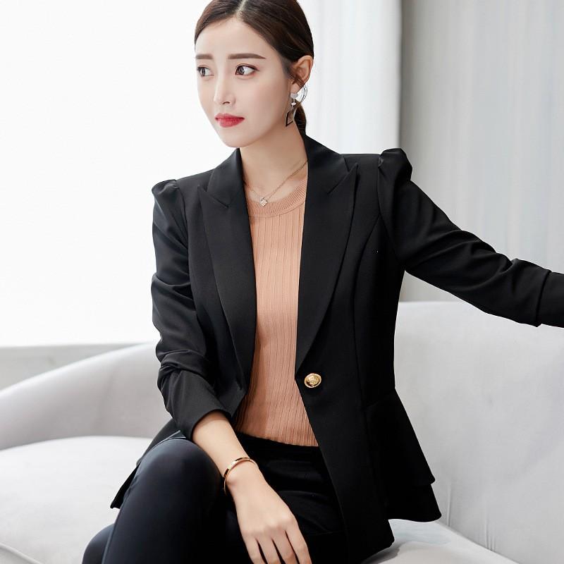 851fb2b6cd5c3 Women Blazers And Jacket Candy Color Long Sleeve Slim Suit big Size S-2XL  Blazer | Shopee Malaysia